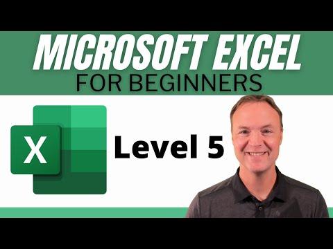 Microsoft Excel Tutorial - Beginners Level 5