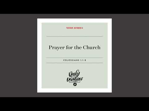 Prayer for the Church  Daily Devotional