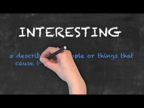 Interesting vs Interested - English Grammar - Teaching Tips