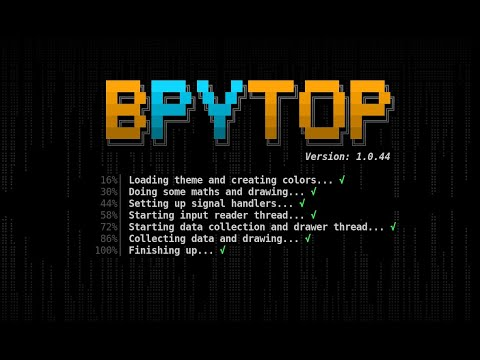 Bpytop Monitoring Utility in Linux