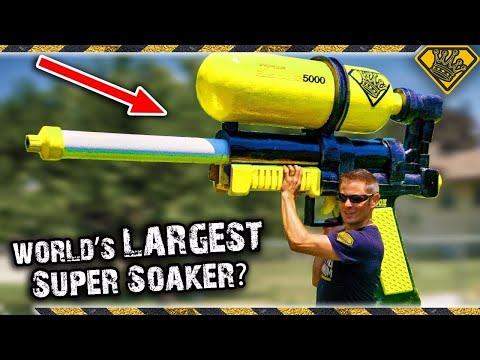 We Make Mark Rober's WORLD's LARGEST Super Soaker! 😂