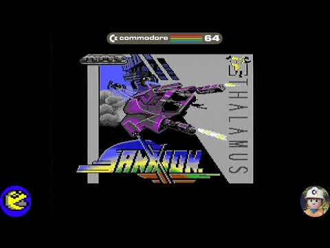 Sanxion loader, Commodore 64 - Real por S-Video