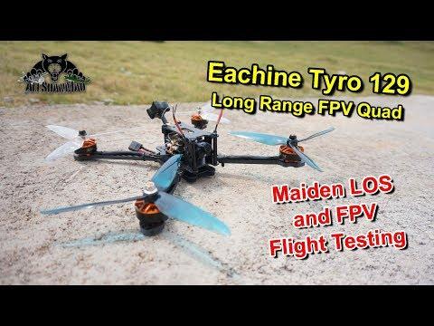Eachine Tyro 129 Long Range FPV Drone FPV Flight Testing - UCsFctXdFnbeoKpLefdEloEQ