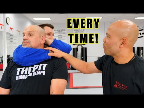 How to escape a standing rear choke | Master Wong