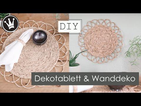 DIY – Dekotablett im Boho Style | Wanddeko | Basteln mit Papier | Tischdeko | DekoideenReich