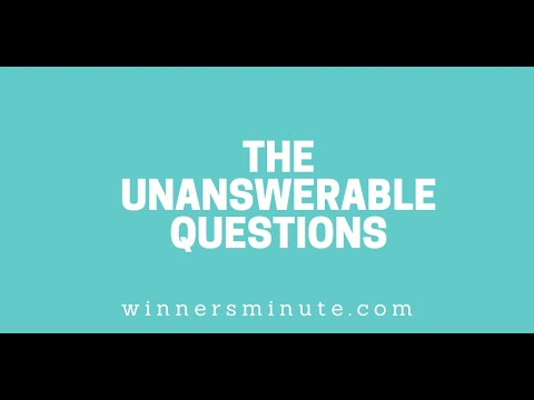 The Unanswerable Questions // The Winner's Minute With Mac Hammond