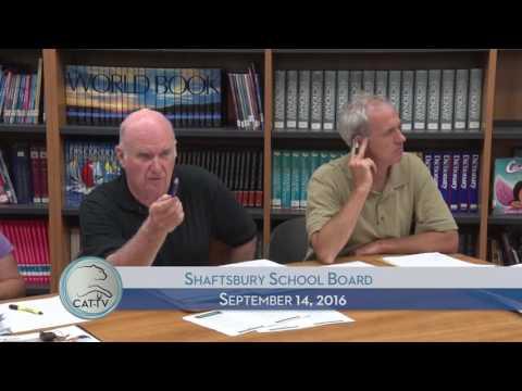 Shaftsbury School Board - 9/14/15