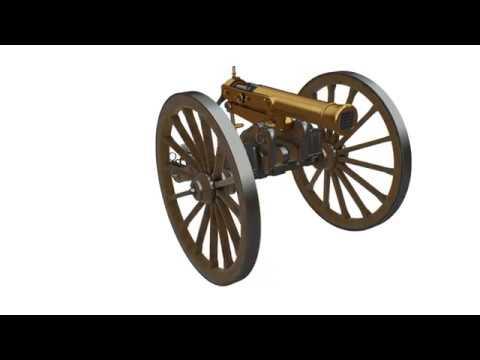 Reconstitution 3D : le fonctionnement du canon Reffye
