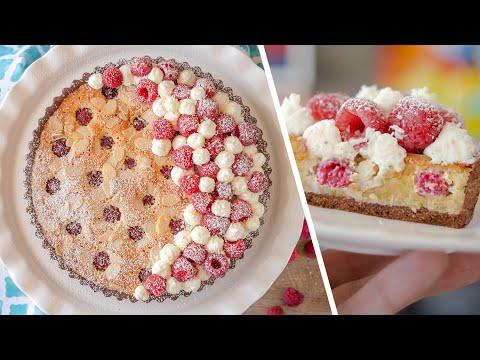 Бомбезно вкусный МИНДАЛЬНЫЙ ТАРТ С ЯГОДОЙ и франжипаном | пирог с малиной | простой летний рецепт