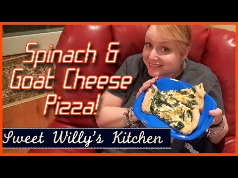 Goat Cheese Spinach Pizza - Mommy's Favorite