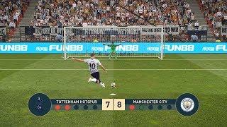 Tottenham Hotspur vs Manchester City   UEFA Champions League - UCL   Penalty Shootout   PES19