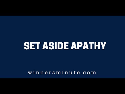 Set Aside Apathy  The Winner's minute With Mac Hammond