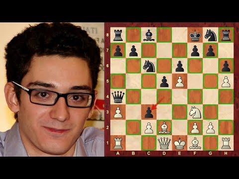 Instructive Chess Game: Fabiano Caruana vs Aleksandr Lenderman : US Championship (2018) : French