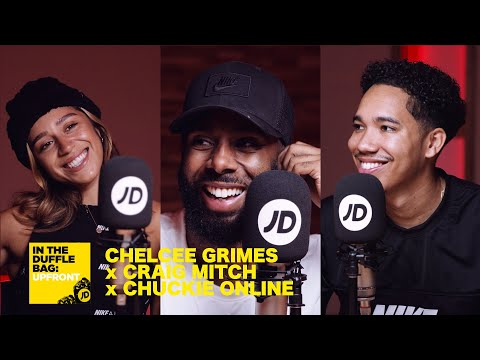 jdsports.co.uk & JD Sports Discount Code video: CHELCEE GRIMES x CRAIG MITCH x CHUCKIE ONLINE | JD IN THE DUFFLE BAG: UPFRONT