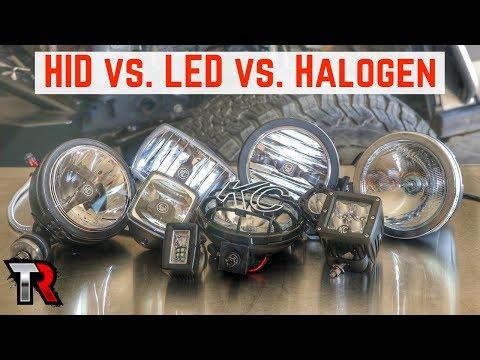 Off-Road Light Comparison - Halogen, HID, LED & Beam Patterns