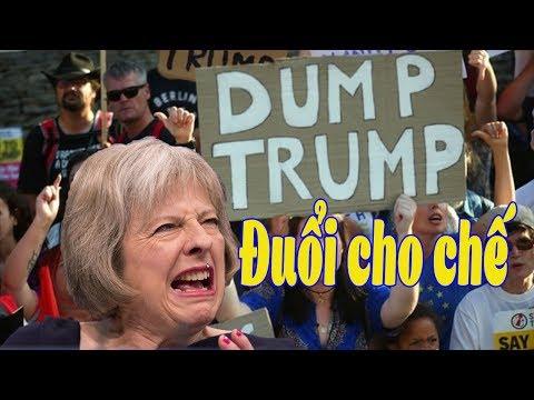 B/i/ể/u t/ì/n/h rầm rộ tại Luân đôn phản đối  chuyến thăm của tổng thống Trump