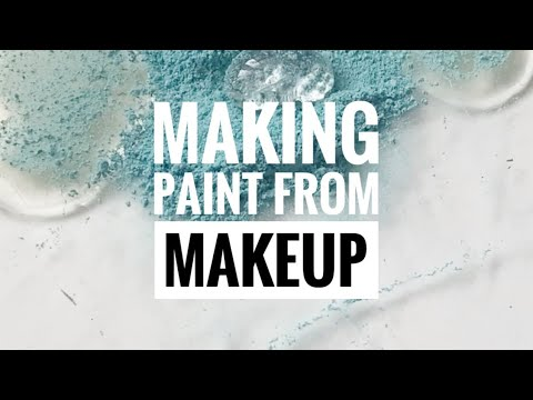 Making Watercolor Paint from Makeup #shorts