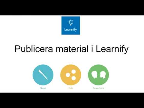 Publicera material i Learnify