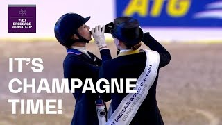 Let the Champagne spray! Isabell Werth celebrates in Gothenburg | FEI Dressage World Cup™ FINAL