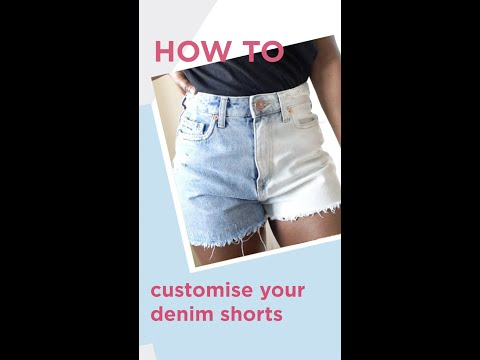 riverisland.com & River Island discount code video: HOW TO CUSTOMISE YOUR DENIM SHORTS // Islanders At Home // River Island