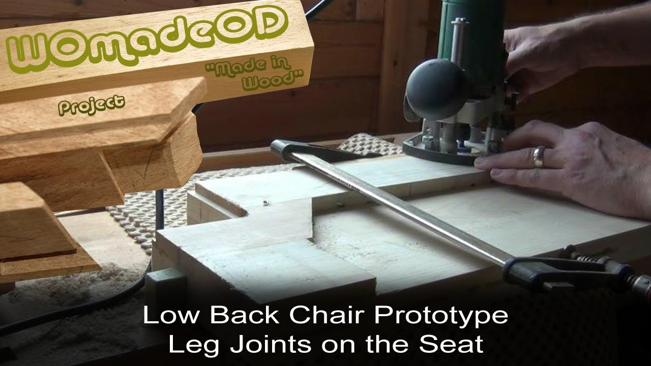 Sexy Low Back Chair Prototype - 3. Leg Joints on Seat