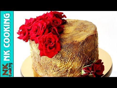 Шоколадный Торт 🍰 Оформление Живыми Цветами 🌹 Рецепты NK cooking