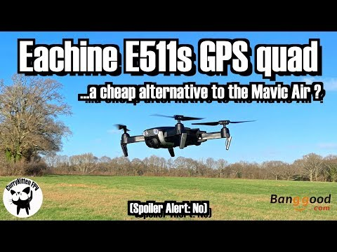 Eachine E511s review - just like a Mavic Air ?   Supplied by Banggood - UCcrr5rcI6WVv7uxAkGej9_g