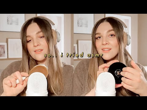 I TRIED ASMR.. | WHISPERING, TAPPING, BRUSHING, EATING SOUNDS | I Covet Thee