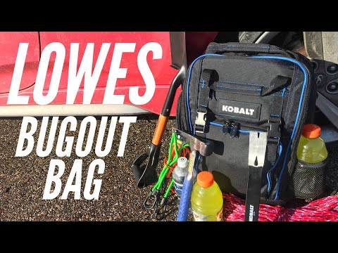 Lowes Bug Out Bag: A 72-Hour Survival Bag with Food, Fire, Shelter, Water and More