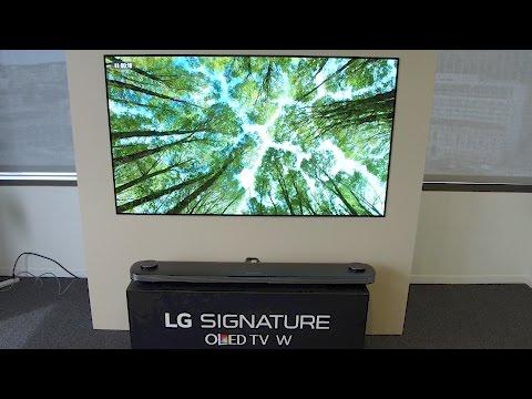LG W7 4K Wallpaper OLED TV and 2017 OLED models in detail