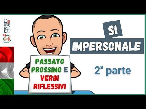 Il SI IMPERSONALE (2a parte)   Il passato prossimo e i verbi riflessivi nella forma impersonale