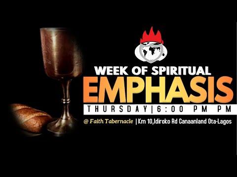 DOMI STREAM: DAY 2  WEEK OF SPIRITUAL EMPHASIS   4, MARCH 2021  FAITH TABERNACLE OTA