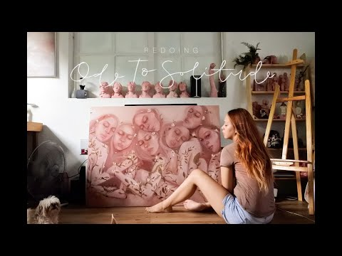 [Filipino art vlog] Redoing Ode To Solitude oil painting - enon art vlog #37