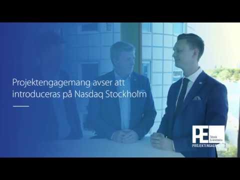 Projektengagemang avser att noteras på Nasdaq Stockholm