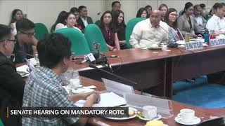 Bato Dela Rosa's heated exchange with a student leader at Senate ROTC hearing