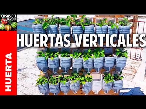Youtube 3 huertas verticales geniales con materiales for Materiales para jardines verticales
