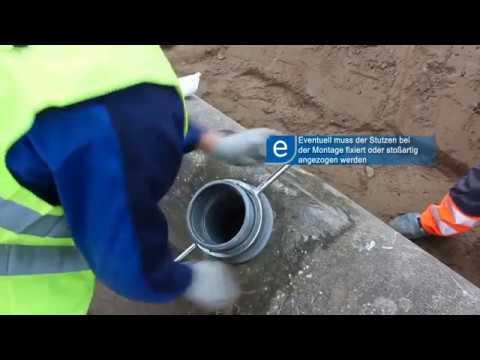 Universal-Stahlbeton-Anschluss-Stutzen Montageanleitung