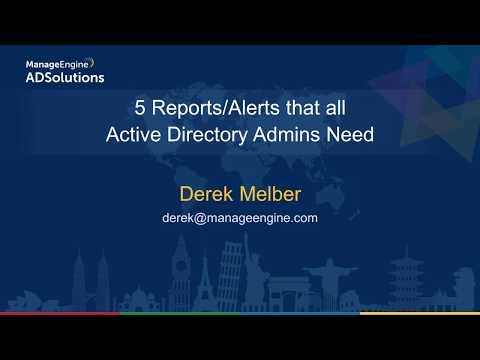 Top 5 reports and alerts that solve common Active Directory problems
