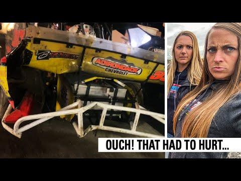 We Wrecked Hard At Fonda Speedway! - dirt track racing video image