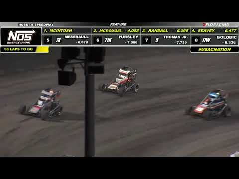USAC NOS Energy Drink National Midget Highlights   Huset's Speedway USAC Nationals   9/12/2021 - dirt track racing video image