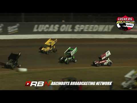 Lucas Oil ASCS Jesse Hockett/Jesse Hockett Memorial at Lucas Oil Speedway. Thursday September 19, 2019 - dirt track racing video image