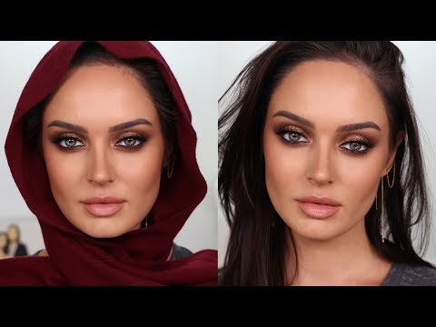 Eid Makeup Look: Heavy Glam with Bronze Eyeshadow + 2 Lipstick Options