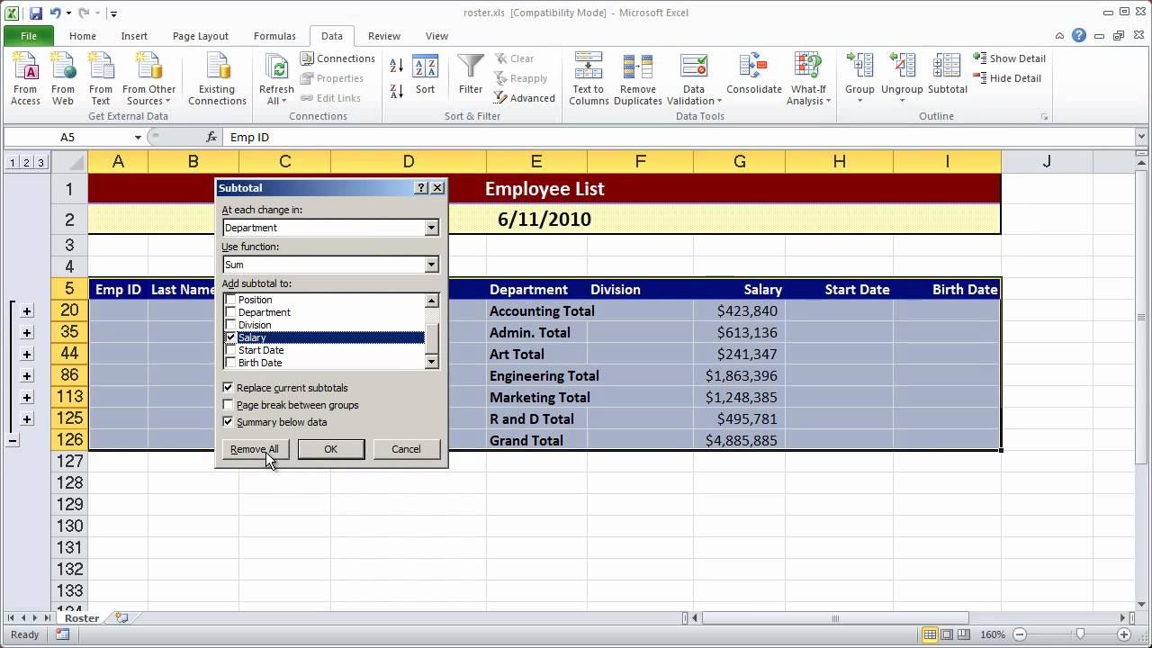 Creating a simple macro in Excel 2010 - Part 1