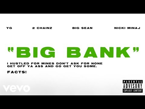 YG - Big Bank (Audio) ft. 2 Chainz, Big Sean, Nicki Minaj - UCIUKjjLfyf19Mr6Q_27GXlw