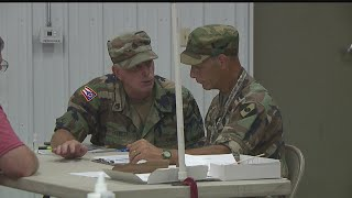 Ohio National Guard mock power outage drill