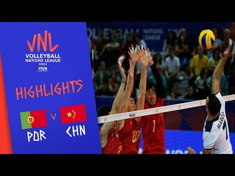 PORTUGAL vs. CHINA - Highlights Men | Week 3 | Volleyball Nations League 2019