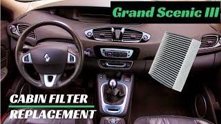 Sostituzione filtro abitacolo Renault Grand Scenic 3