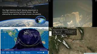 North American Coastlines - International Space Station NASA Live View With Map - 025 - 2019-08-17