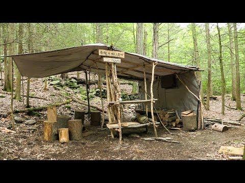 Overnight at Semi Permanent Bushcraft Camp Part 1