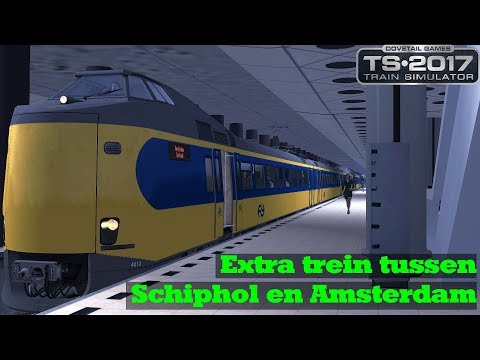Samen met Blivius92  Extra trein tussen Schiphol en Amsterdam  NS ICM  Train Simulator 2017